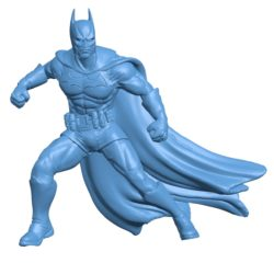 Batman in action B003571 file stl free download 3D Model for CNC and 3d