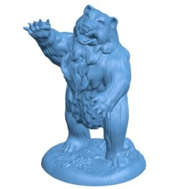 Bear Action B003357 file stl free download 3D Model for CNC and 3d printer
