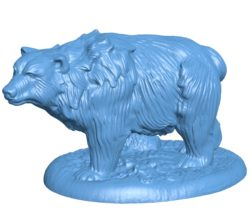 Bear Casual B003062 file stl free download 3D Model for CNC and 3d printer