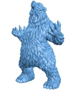 Bear Standing B003345 file stl free download 3D Model for CNC and 3d printer
