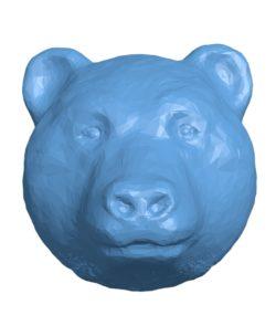 Bear head B002904 file stl free download 3D Model for CNC and 3d printer