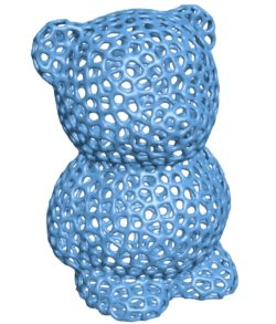 Bear voronoi B003223 file stl free download 3D Model for CNC and 3d printer