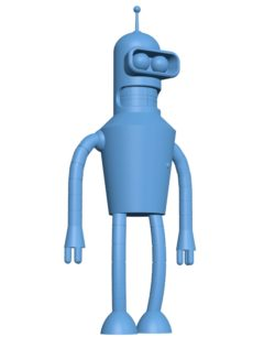 Bender from futurama B002992 file stl free download 3D Model for CNC and 3d printer