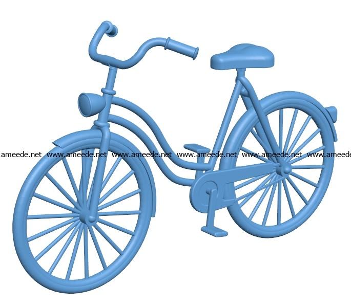 Bike B003537 File Stl Free Download 3d Model For Cnc And 3d Printer Download Stl Files Obj Files
