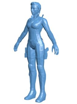 Black Widow women B003563 file stl free download 3D Model for CNC and 3d