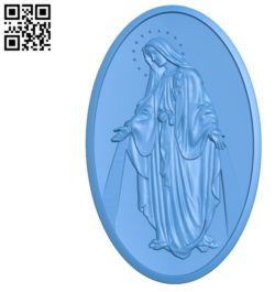 Blessed Mother A002826 wood carving file stl for Artcam and Aspire jdpaint free vector art 3d model download for CNC