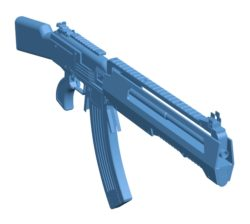 Borderlands rifle Gun B003552 file stl free download 3D Model for CNC and 3d