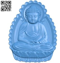 Buddha A002799 wood carving file stl for Artcam and Aspire jdpaint free vector art 3d model download for CNC