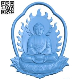 Buddha A002803 wood carving file stl for Artcam and Aspire jdpaint free vector art 3d model download for CNC