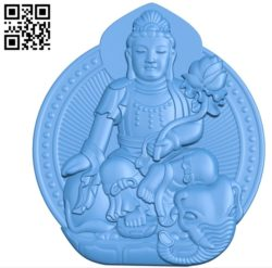 Buddhism Quan Yin A002788 wood carving file stl for Artcam and Aspire jdpaint free vector art 3d model download for CNC
