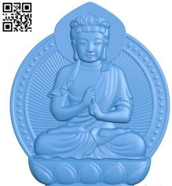 Buddhism Quan Yin A002790 wood carving file stl for Artcam and Aspire jdpaint free vector art 3d model download for CNC