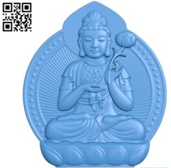 Buddhism Quan Yin A002791 wood carving file stl for Artcam and Aspire jdpaint free vector art 3d model download for CNC