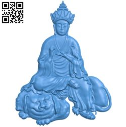 Buddhism Quan Yin A002792 wood carving file stl for Artcam and Aspire jdpaint free vector art 3d model download for CNC