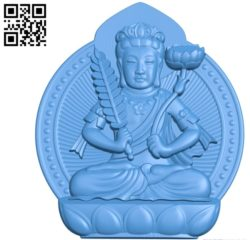 Buddhism Quan Yin A002795 wood carving file stl for Artcam and Aspire jdpaint free vector art 3d model download for CNC