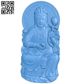 Buddhism Quan Yin A002802 wood carving file stl for Artcam and Aspire jdpaint free vector art 3d model download for CNC