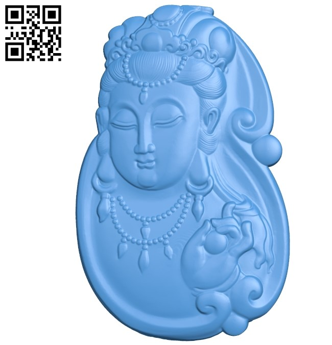 Buddhism Quan Yin A002810 wood carving file stl for Artcam and Aspire jdpaint free vector art 3d model download for CNC