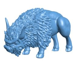 Buffalo B003446 file stl free download 3D Model for CNC and 3d printer