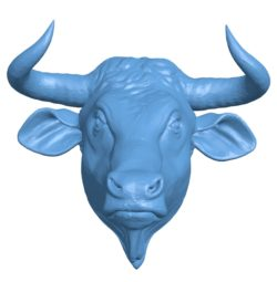 Buffalo Head B002905 file stl free download 3D Model for CNC and 3d printer