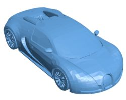 Bugatti Veyron Car B003010 file stl free download 3D Model for CNC and 3d printer