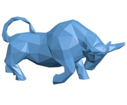 Bull low poly B003554 file stl free download 3D Model for CNC and 3d