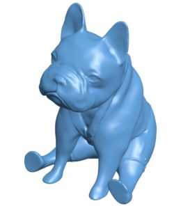 Bulldog in shorts B003569 file stl free download 3D Model for CNC and 3d