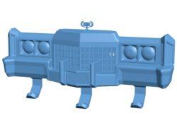 Bumper hanger of car B002988 file stl free download 3D Model for CNC and 3d printer