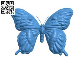 Butterfly A002784 wood carving file stl for Artcam and Aspire jdpaint free vector art 3d model download for CNC