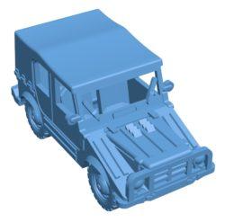 Car DKW Munga B003447 file stl free download 3D Model for CNC and 3d printer