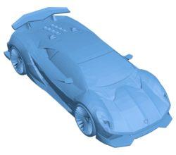 Car Lamborghini Sesto Elemento B002883 file stl free download 3D Model for CNC and 3d printer