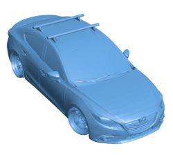 Car Mazda 3 racing B003726 file stl free download 3D Model for CNC and 3d printer