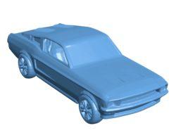 Car Mustang printable B003452 file stl free download 3D Model for CNC and 3d printer