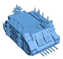 Chaos Rhino Tank B003589 file stl free download 3D Model for CNC and 3d printer