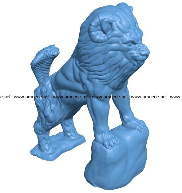 Chimera Lion B003513 file stl free download 3D Model for CNC and 3d printer