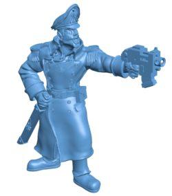 Commissar Cop B003073 file stl free download 3D Model for CNC and 3d printer