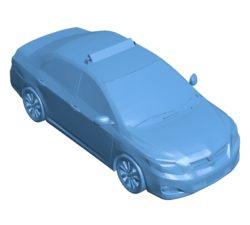 Corolla taxi – Car B003510 file stl free download 3D Model for CNC and 3d printer
