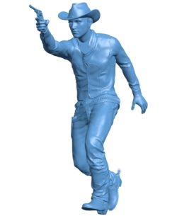 Cow boy B003534 file stl free download 3D Model for CNC and 3d printer