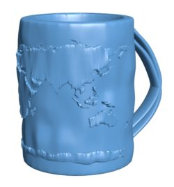 Cup Map mug B002967 file stl free download 3D Model for CNC and 3d printer