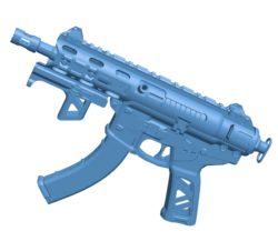 Daemon Gun 3XB B003531 file stl free download 3D Model for CNC and 3d printer