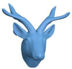 Deer Head B002906 file stl free download 3D Model for CNC and 3d printer