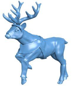 Deer armored B003636 file stl free download 3D Model for CNC and 3d printer