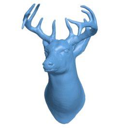 Deer head B002995 file stl free download 3D Model for CNC and 3d printer