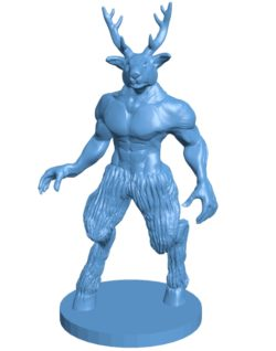 Deer man B003712 file stl free download 3D Model for CNC and 3d printer