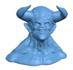 Devil head B002987 file stl free download 3D Model for CNC and 3d printer