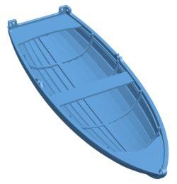 Dinghy Ship B003691 file stl free download 3D Model for CNC and 3d printer