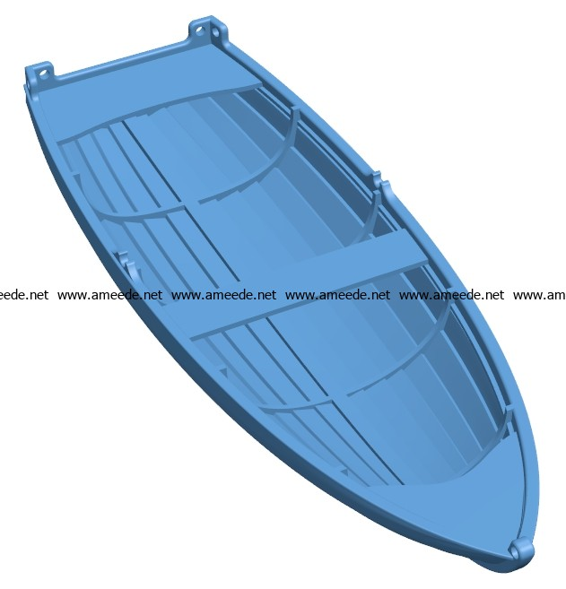 Dinghy Ship B003691 file stl free download 3D Model for CNC and 3d printer