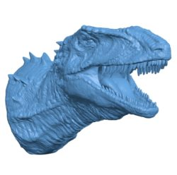 Dinosaur head B002985 file stl free download 3D Model for CNC and 3d printer