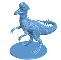Dinosaur raptor statue 003732 file stl free download 3D Model for CNC and 3d printer