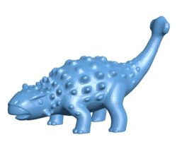 Dinosaurs ankylosaurus B003553 file stl free download 3D Model for CNC and 3d