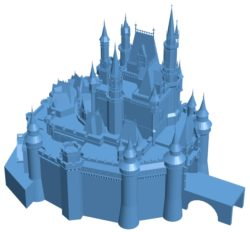 Disney castle B002990 file stl free download 3D Model for CNC and 3d printer