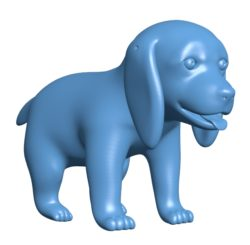 Dog happy puppy B003076 file stl free download 3D Model for CNC and 3d printer